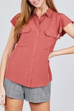 Active Basic Ruffle Sleeve Top - Product List Image
