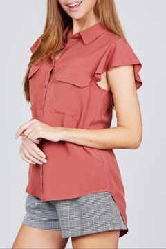 Active Basic Ruffle Sleeve Top - Alternate List Image