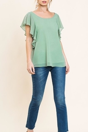 Cloudwalk Ruffle Sleeve Top - Product Mini Image