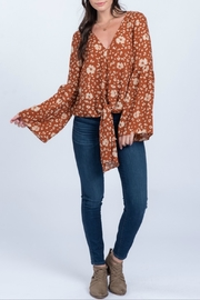 Everly Ruffle Sleeve Top - Product Mini Image