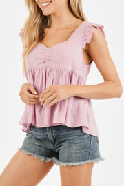LoveRiche Ruffle sleeve top - Front cropped