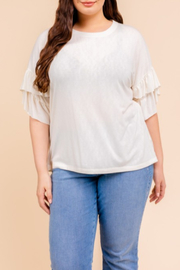 Gilli  Ruffle Sleeve Top - Product Mini Image