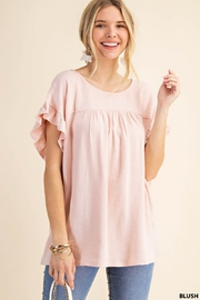 Kori Ruffle Sleeve Top - Product Mini Image