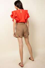 Thml Ruffle Sleeve Top - Front full body