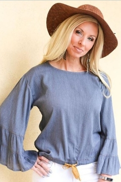 Ivy Jane  Ruffle Sleeve Top with Drawstring - Alternate List Image