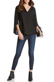 Fifteen Twenty Ruffle Sleeve V Neck Blouse - Product Mini Image