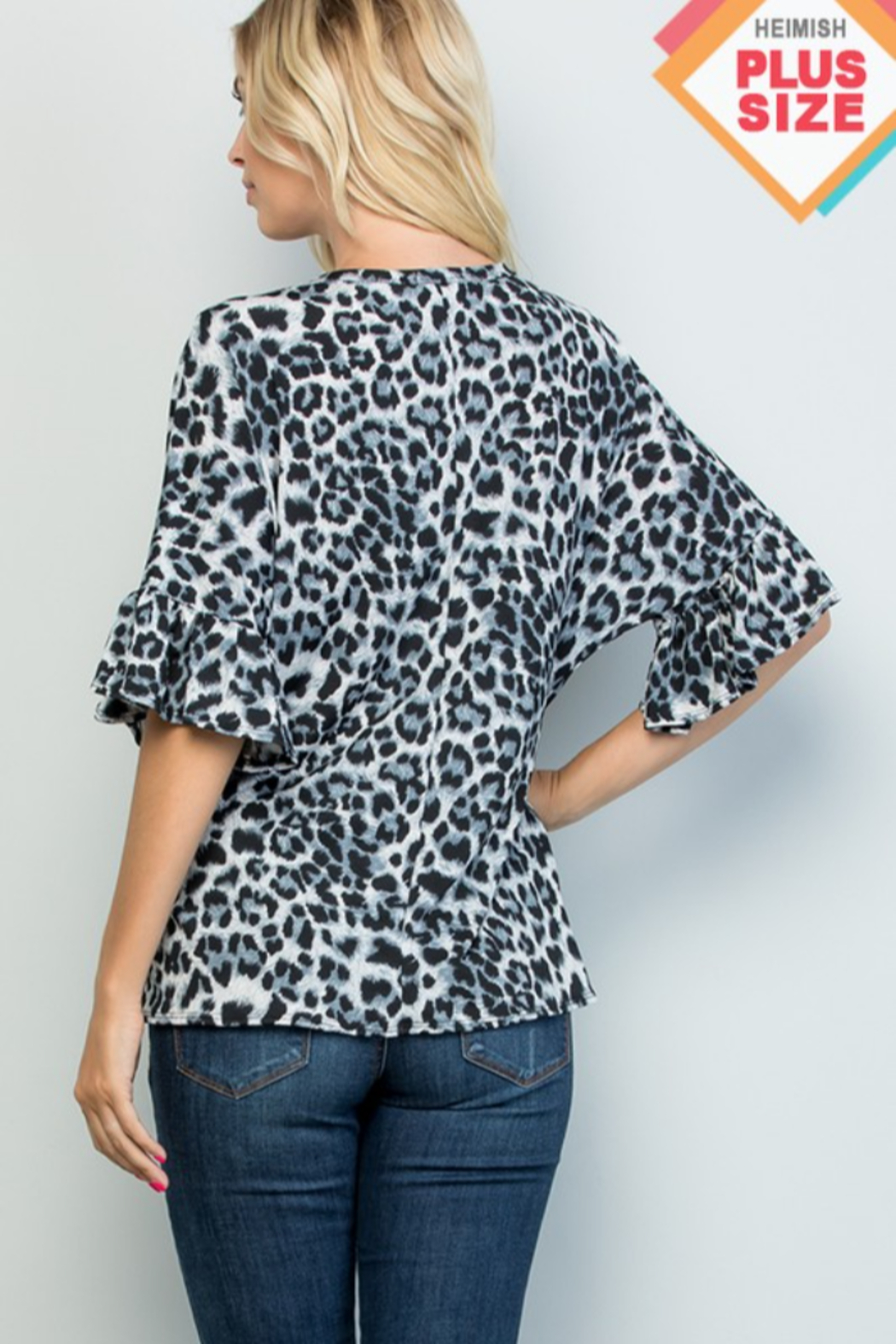 Heimish Ruffle Sleeve VNeck Tie Front Top - Side Cropped Image