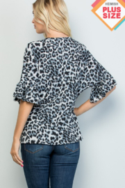 Heimish Ruffle Sleeve VNeck Tie Front Top - Side cropped