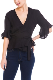 Mustard Seed Ruffle-Sleeve Wrap Top - Product Mini Image