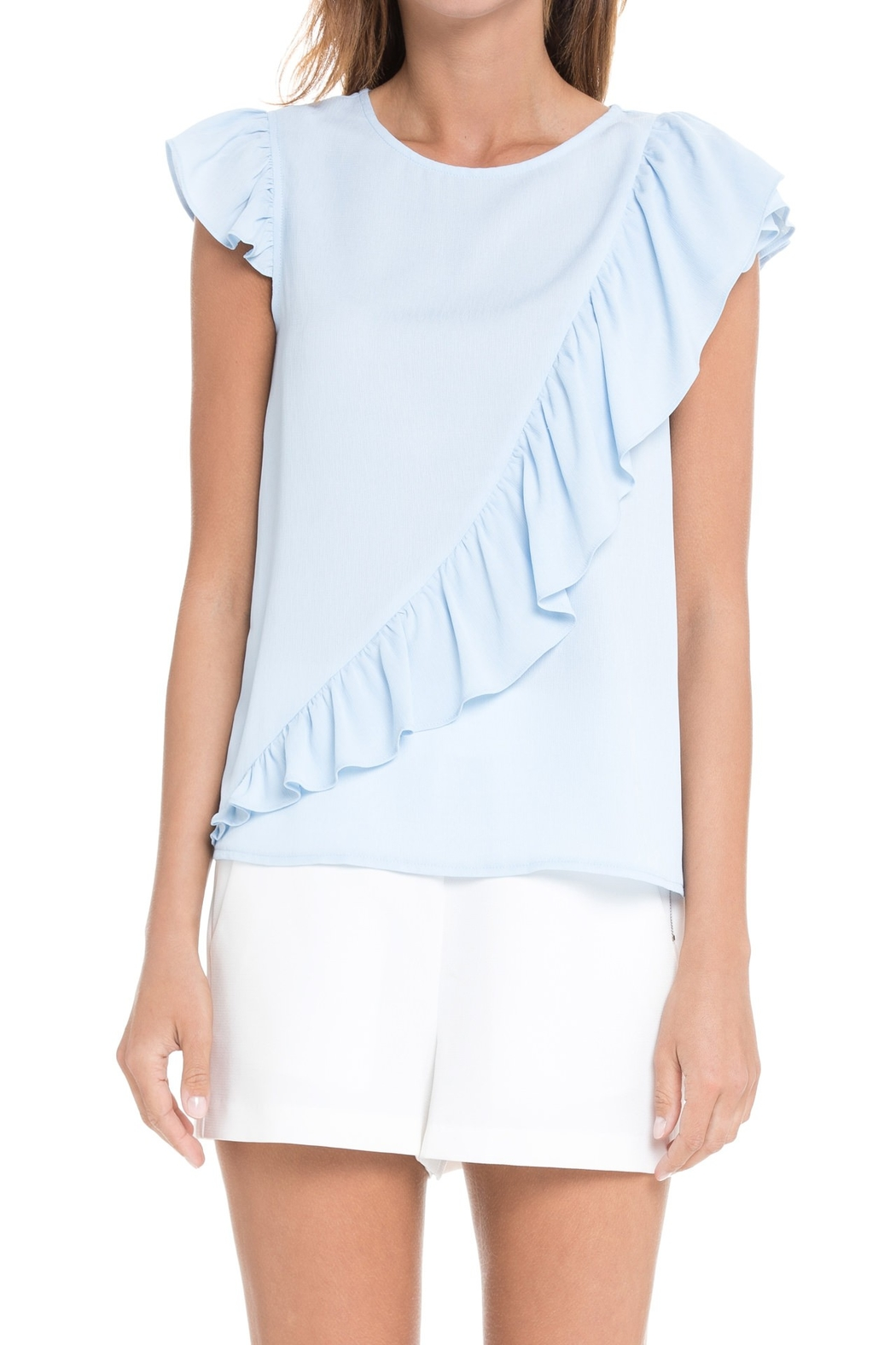 After Market Ruffle Sleeveless Top - Side Cropped Image