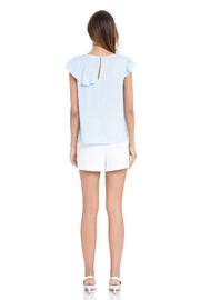 After Market Ruffle Sleeveless Top - Front full body