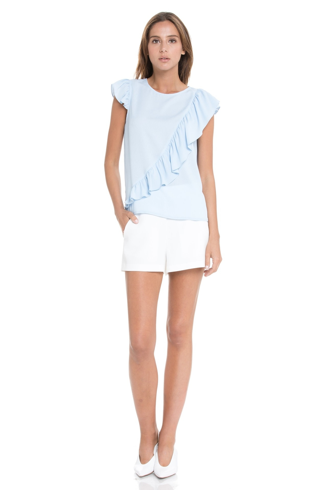 After Market Ruffle Sleeveless Top - Main Image