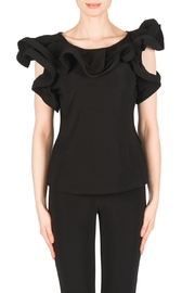 Joseph Ribkoff Ruffle Sleeves Top - Product Mini Image