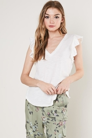 Mustard Seed Ruffle Sleevless Tee - Front cropped