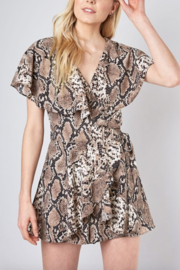 Do & Be Ruffle Snake Romper - Product Mini Image