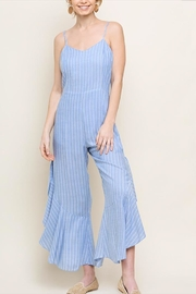 Umgee USA Ruffle Split Jumpsuit - Product Mini Image