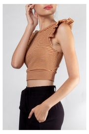 storia Ruffle Striped Crop-Top - Side cropped