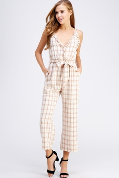 Shoptiques Product: Ruffle Surplice Jumpsuit