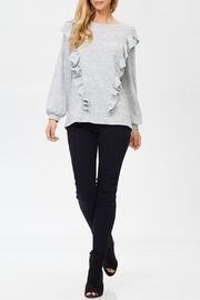 White Birch Ruffle Sweater - Front cropped