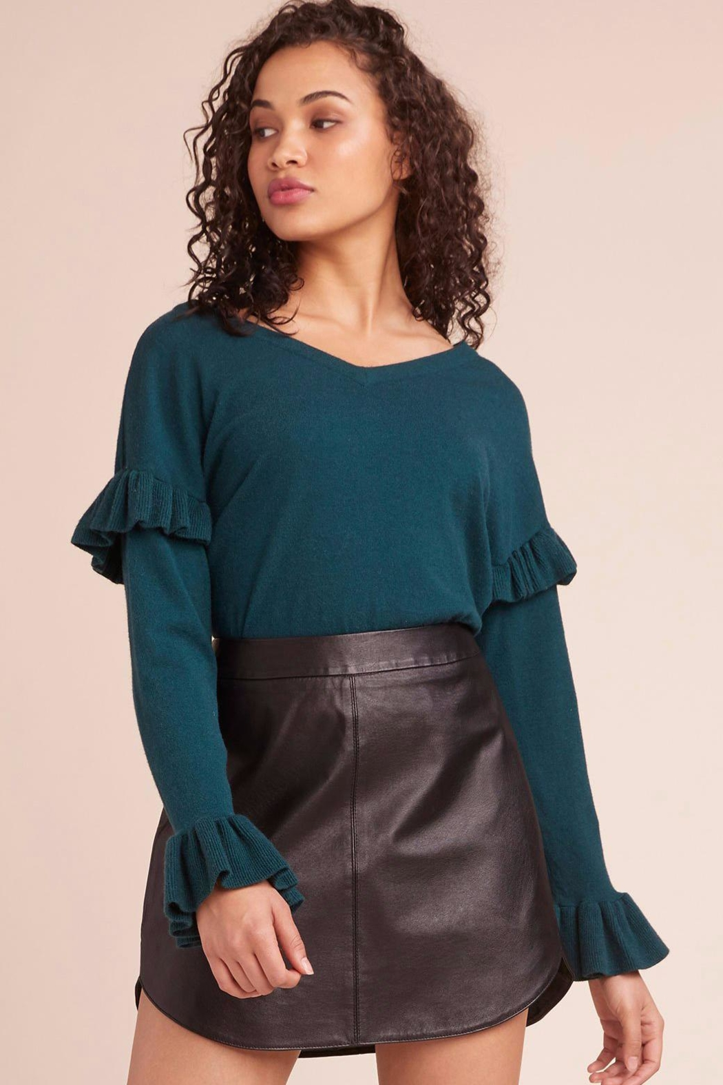 BB Dakota Ruffle Sweater - Front Cropped Image