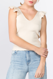 On Twelfth Ruffle Sweater Tank - Product Mini Image