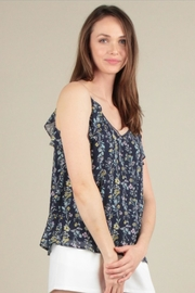 Skies Are Blue Ruffle Tank Top - Side cropped
