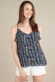 Skies Are Blue Ruffle Tank Top - Product Mini Image