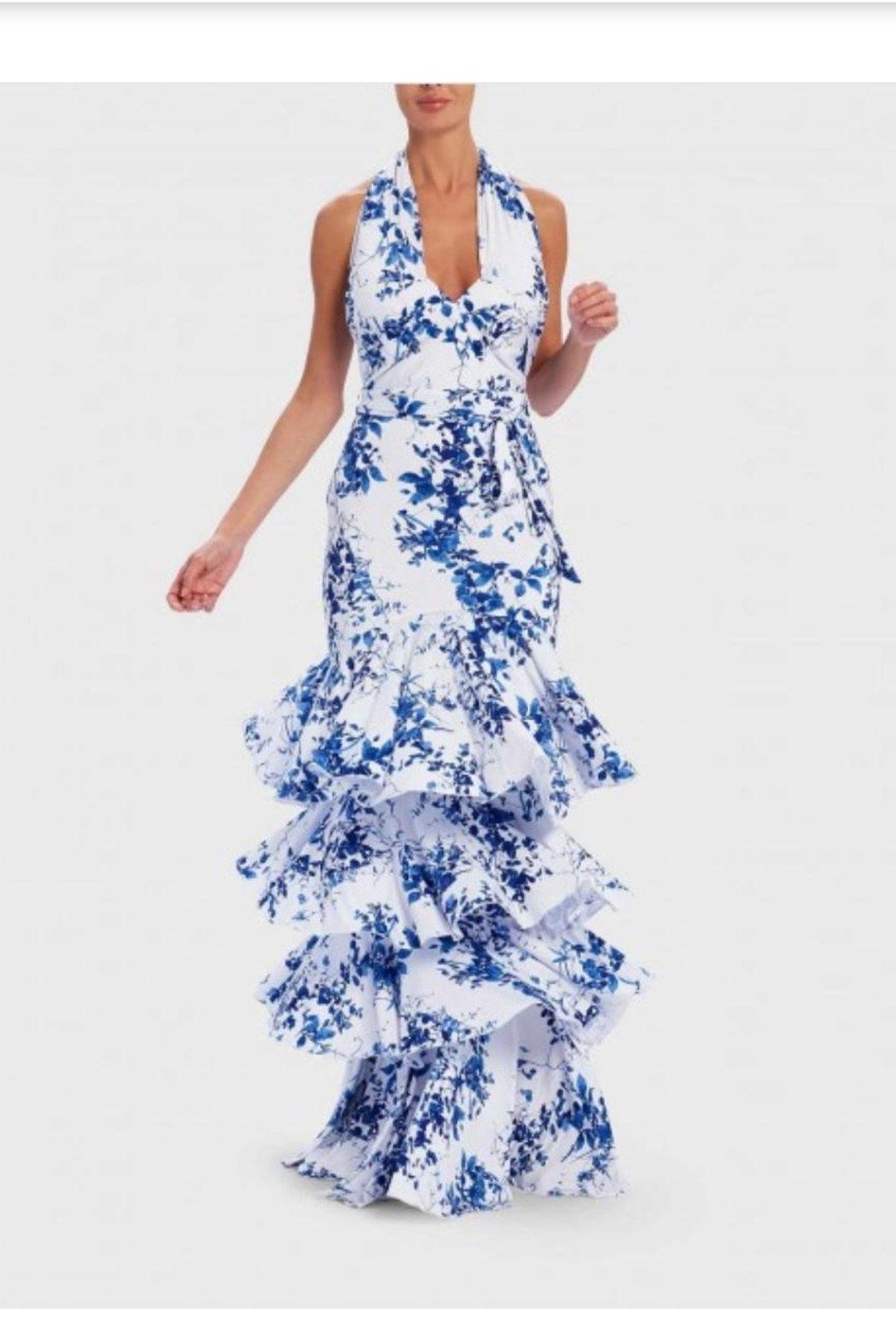 Forever Unique Ruffle Tiered Gown - Main Image