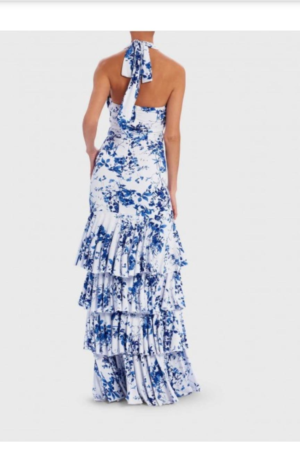 Forever Unique Ruffle Tiered Gown - Side Cropped Image