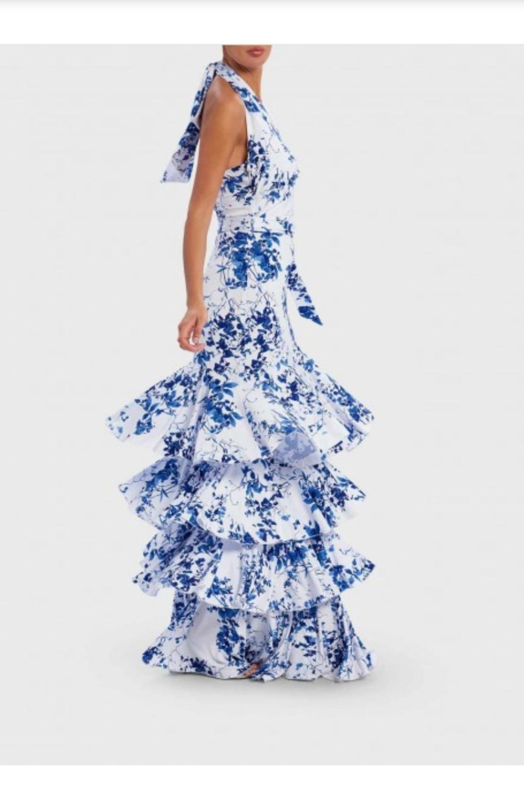 Forever Unique Ruffle Tiered Gown - Front Full Image