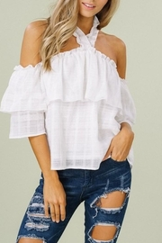 Listicle Ruffle Top - Product Mini Image
