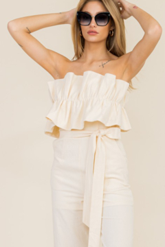 Ambition Ruffle Top Jumpsuit - Product List Image