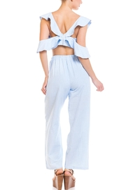 hot and delicious Ruffle Top Pant-Set - Back cropped