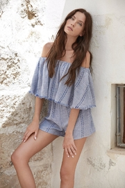 Elan Ruffle Top Romper - Front cropped