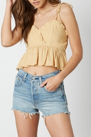Cotton Candy  Ruffle Trim Crop Top - Product Mini Image