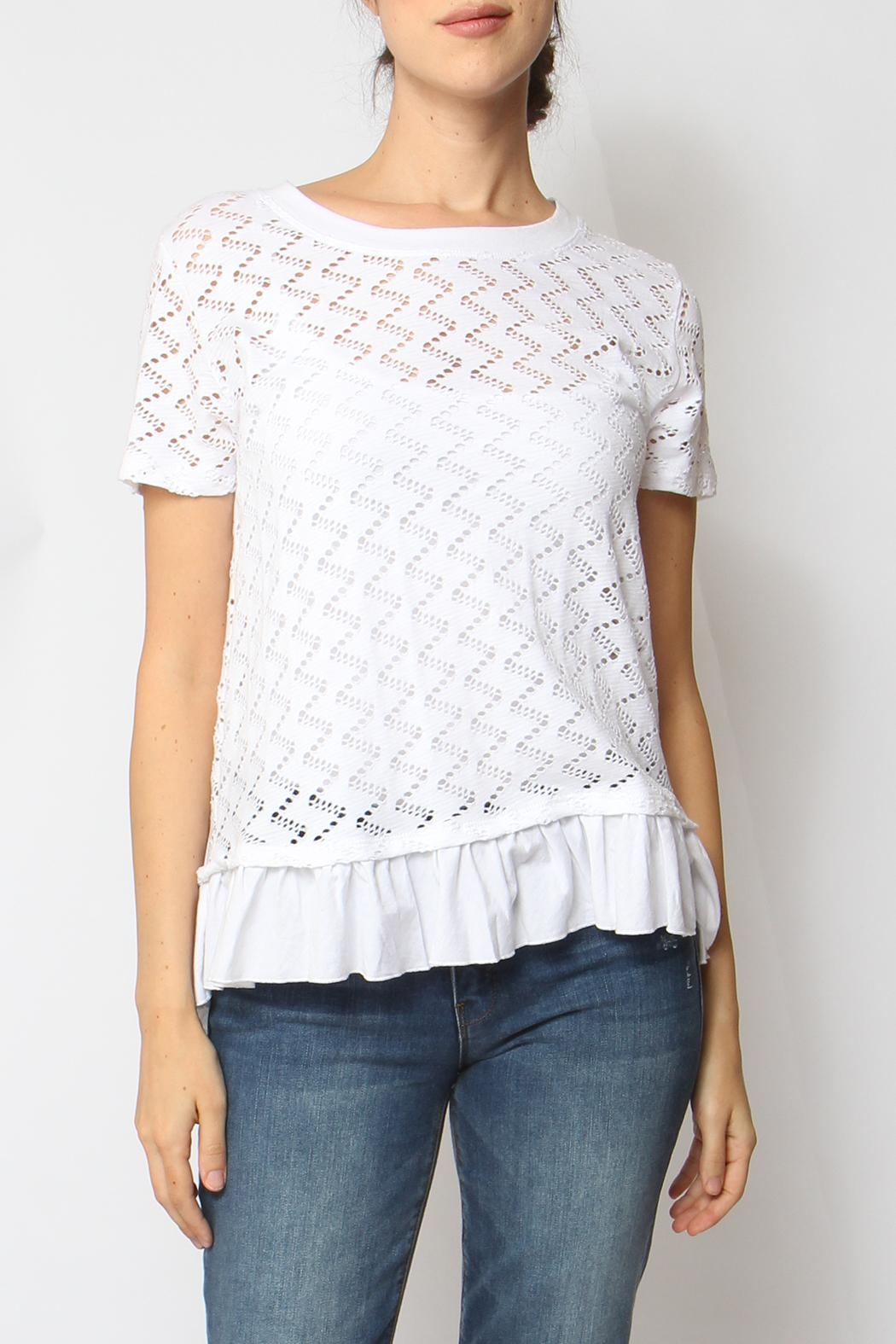 Coin 1804 Ruffle Trim Top - Front Cropped Image