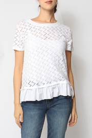Coin 1804 Ruffle Trim Top - Front cropped