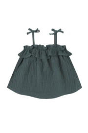 Rylee & Cru Ruffle Tube Top - Front full body