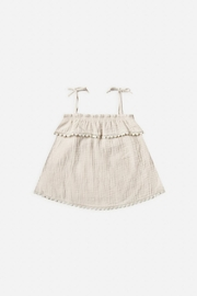 Rylee & Cru Ruffle Tube Top in Natural - Front cropped
