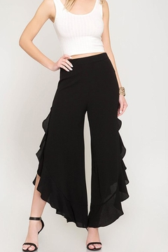 The Vintage Valet Ruffle Tulip Pants - Product List Image