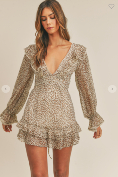 Mable Ruffle Up Leopard Dress - Product List Image