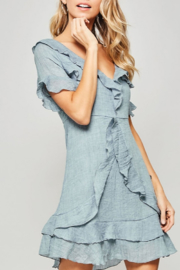 Promesa Ruffle V-Neck Mini Dress - Product Mini Image