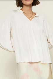Current Air Ruffle V-Neck Top - Product Mini Image