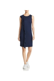 Three Dots Ruffle Vertical Tank Knit Dress - Product Mini Image