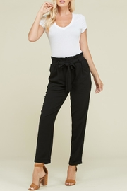 Polagram Ruffle Waist Tie-Pants - Product Mini Image