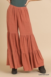 Umgee Ruffle Wide Leg Pant - Product Mini Image