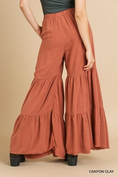 Umgee Ruffle Wide Leg Pant - Alternate List Image