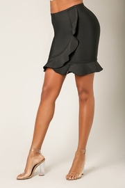 Wow Couture Ruffle Wrap Bandage Skirt - Front full body