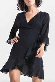Black Swan Ruffle Wrap Dress - Product Mini Image