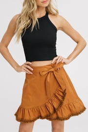 Listicle Ruffle Wrap Fringe-Skirt - Product Mini Image
